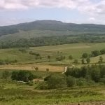 A new view across to Glenreasedale from the access to the Freisdale windfarm